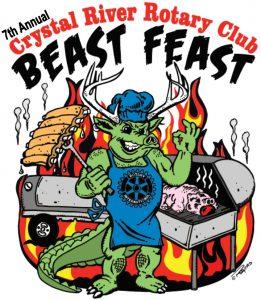 Crystal River Rotary 7th Beast Feast Logo